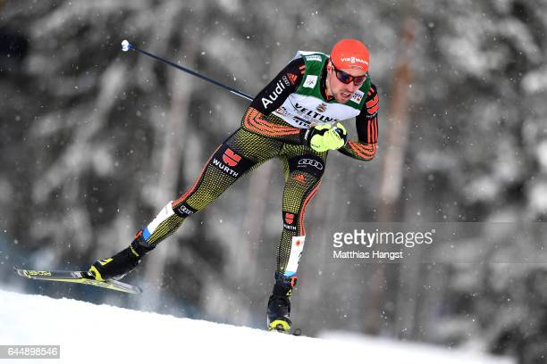 Johannes Rydzek of Germany competes in the Men's Nordic Combined 10KM Cross Country during the FIS Nordic World Ski Championships on February 24 2017...