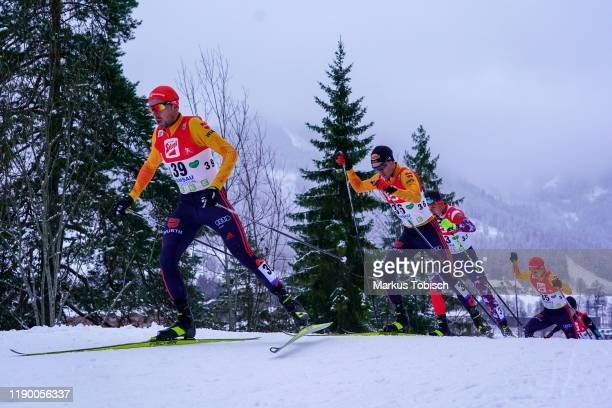 Johannes Rydzek of Germany during the Men's Gundersen Large Hill HS 98/10.0 km at the Vismann Fis Nordic Combined World Cup at WM Stadion Ramsau on...