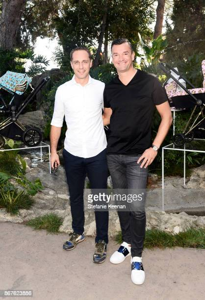 Johannes Schlamminger and CYBEX Founder Martin Pos at the Cybex by Jeremy Scott Cherub Halloween Launch Celebration on October 28 2017 in Los Angeles...