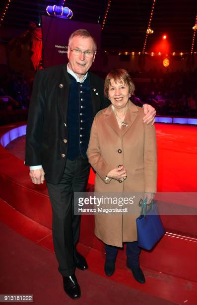 Johannes Singhammer and his wife Ruth Singhammer during Circus Krone celebrates premiere of 'Hommage' at Circus Krone on February 1 2018 in Munich...