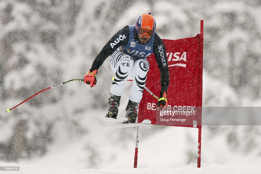 Johannes Stehle of Germany attacks the course in the FIS Alpine World Cup Men's Downhill on December 1, 2006 on Birds of Prey at Beaver Creek in Avon, Colorado.