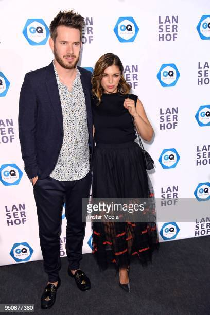 Johannes Strate of the band Revolverheld and his girlfriend Anna Angelina Wolfers attend the GQ Care Award at on April 24 2018 in Berlin Germany