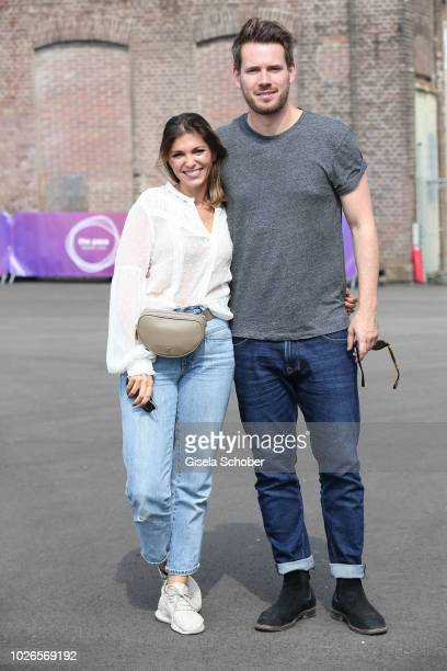 Johannes Strate singer of the band Revolverheld and his girlfriend Anna Angelina Wolfers during the 'Dua Lipa x Jaguar The PACE 'Season One' Launch...