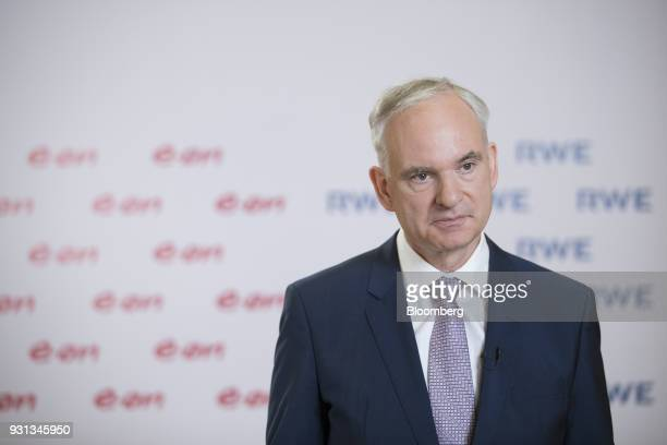 Johannes Teyssen chief executive officer of EON SE pauses during a Bloomberg Television interview in Essen Germany on Tuesday March 13 2018 EON will...
