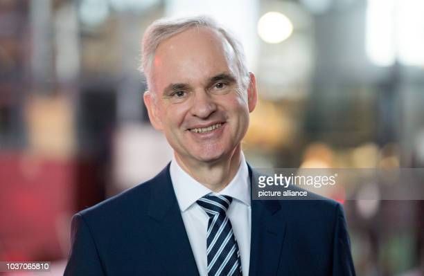 Johannes Teyssen poses as he attends the official inaugural cermony of the 'Amrumbank West' offshore wind park in Hamburg Germany 04 February 2016...