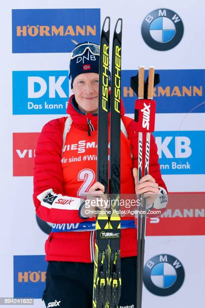 Johannes Thingnes Boe of Norway takes 2nd place during the IBU Biathlon World Cup Men's and Women's Mass Start on December 17 2017 in Le Grand...