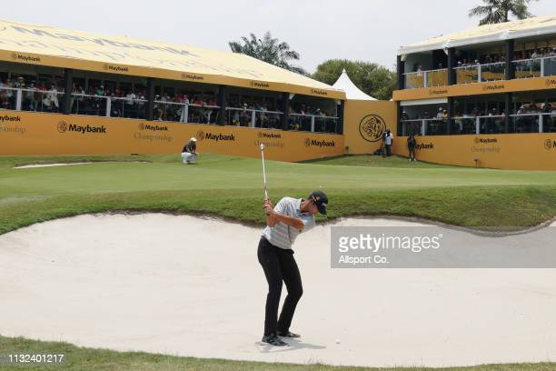 Johannes Veerman of United States in action during Day Four of the Maybank Championship at Saujana Golf and Country Club on March 24 2019 in Kuala...