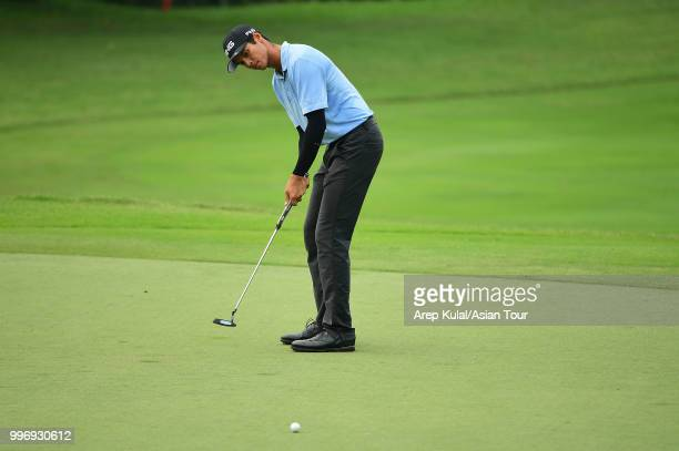 Johannes Veerman of USA pictured during the first round of the Bank BRI Indonesia Open at Pondok Indah Golf Course on July 12 2018 in Jakarta...