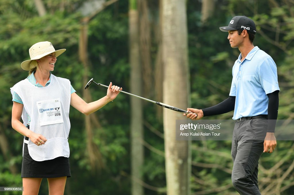 Johannes Veerman of USA pictured during the first round of the Bank BRI Indonesia Open at Pondok Indah Golf Course on July 12, 2018 in Jakarta, Indonesia.