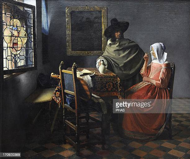 Johannes Vermeer Dutch painter specialized in domestic interior scenes of middle class life The wine glass c 16581660 Also known as The Glass of Wine...