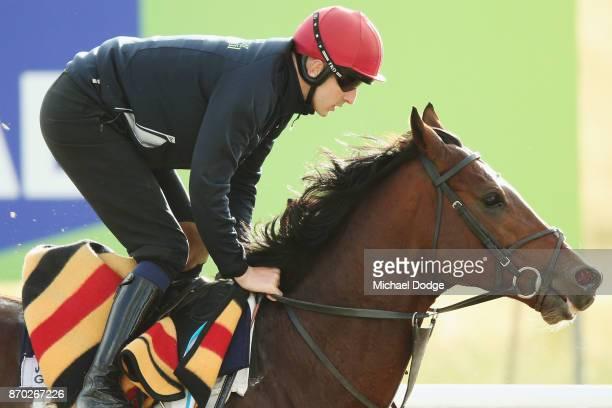 Johannes Vermeer gallops during the Werribee International Gallops at Werribee Racecourse on November 5 2017 in Melbourne Australia