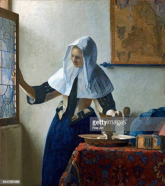 Johannes Vermeer Young Woman with a Water Pitcher c 1662 oil on canvas 179 x 159 in Metropolitan Museum of Art New York