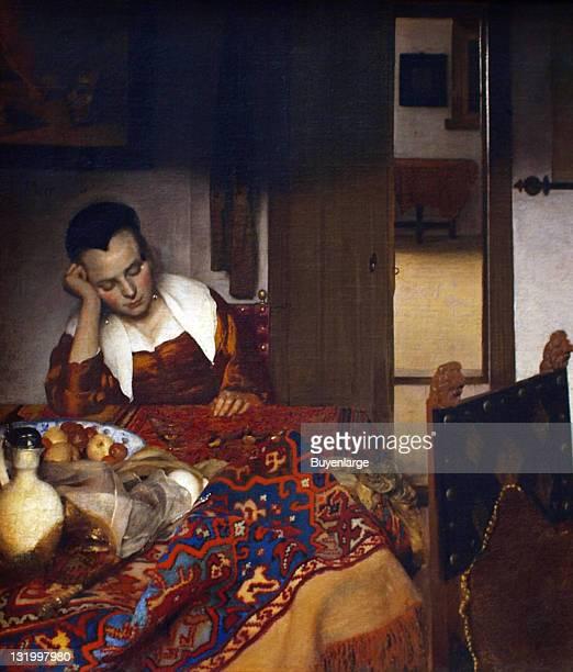 Johannes Vermeer's 'A Maid Asleep' 1657