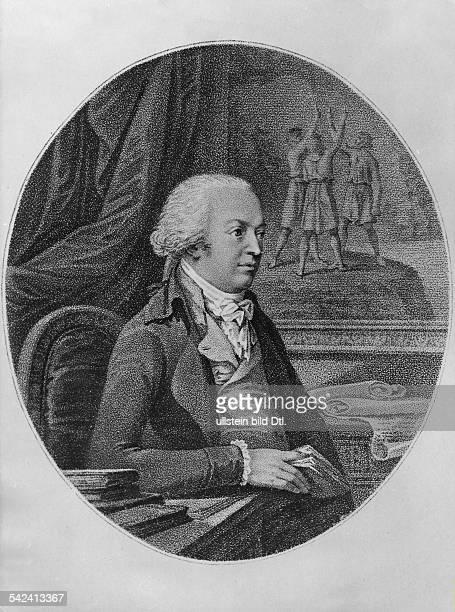 Johannes von MüllerHistoriker Schweiz*0301175229051809ab1804 preussischer HistoriographPorträt undatiert