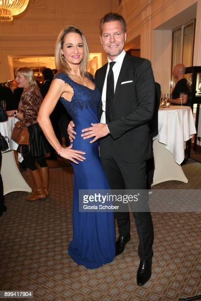 Johannes Weinsheimer and his girlfriend Lena Lill during the Award Gala benefiting 'Planet Hope' foundation at Kempinski Grand Hotel des Bains on...