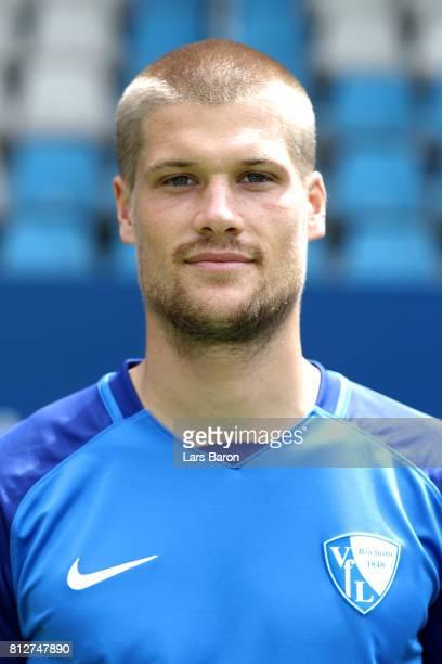 Johannes Wurtz of VfL Bochum poses during the team presentation at Vonovia Ruhrstadion on July 11 2017 in Bochum Germany