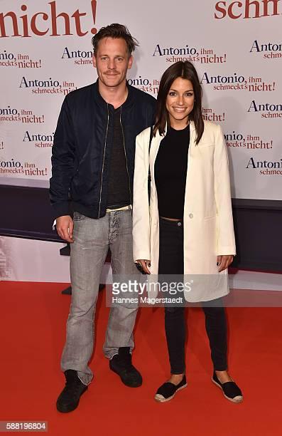 Johannes Zirner and Anna Julia Kapfelsperger attend the premiere of the film 'Antonio ihm schmeckt's nicht' at Mathaeser Filmpalast on August 10 2016...