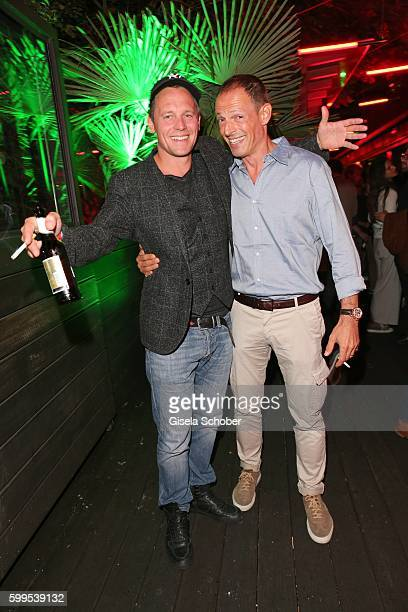 Johannes Zirner and Michael Zechbauer during the premiere for the film 'Maennertag' at Mathaeser Filmpalast on September 5 2016 in Munich Germany