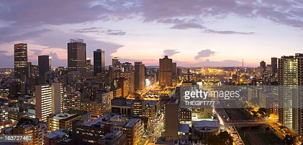 johannesburg city centre panorama - gauteng province stock pictures, royalty-free photos & images
