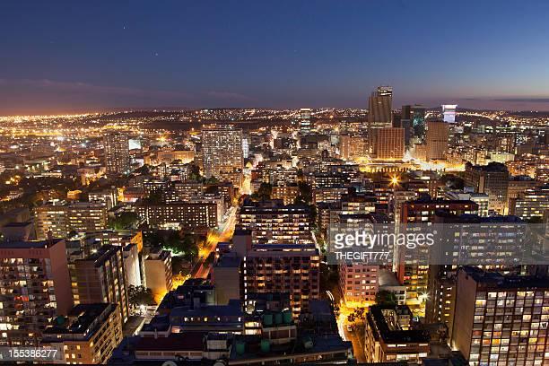 Johannesburg city sunset from Hillbrow