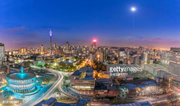 johannesburg council chamber and hillbrow cityscape - gauteng province stock pictures, royalty-free photos & images