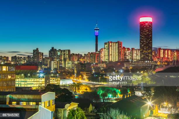 Johannesburg evening cityscape of Hillbrow