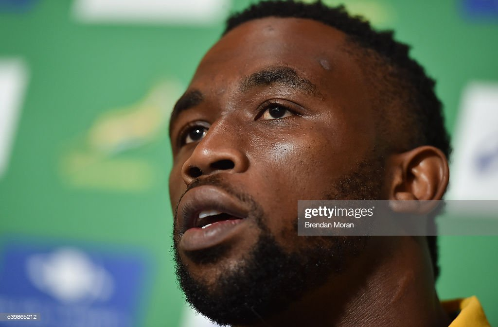Johannesburg , South Africa - 13 June 2016; Siya Kolisi of South Africa during a press conference at the Palazzo Hotel, Montecasino in Johannesburg, South Africa.