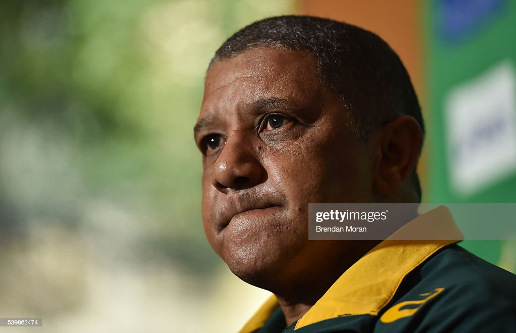 South Africa Rugby Press Conference : News Photo