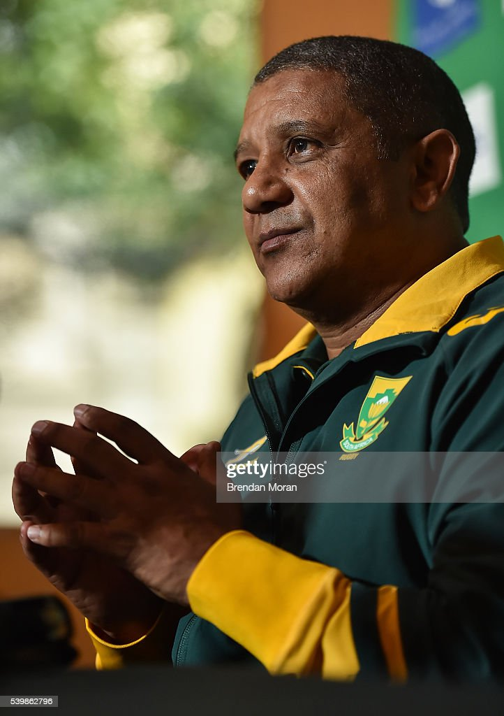 Johannesburg , South Africa - 13 June 2016; South Africa head coach Allister Coetzee during a press conference at the Palazzo Hotel, Montecasino in Johannesburg, South Africa.