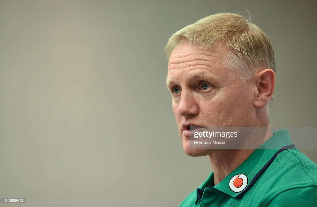Ireland Rugby Press Conference : News Photo