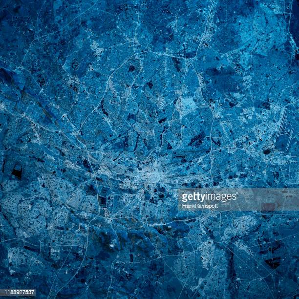 johannesburg south africa 3d render map blue top view oct 2019 - frankramspott foto e immagini stock
