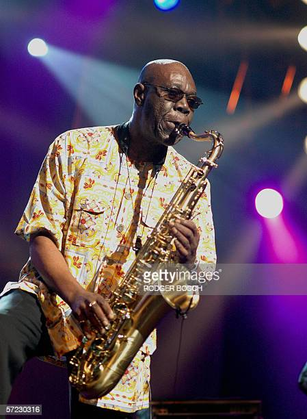 African super star saxophanist Manu Dibangu with his Soul Makossa Gang performs at the 7th Annual Cape Town International Jazz Festival 31 March 2006...