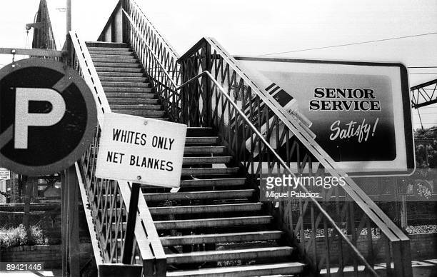 Johannesburg South Africa Typical segregationist placard of the apartheid