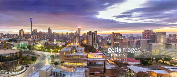 Johannesburg sunrise cityscape with the Council Chamber