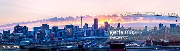 Johannesburg sunrise panorama
