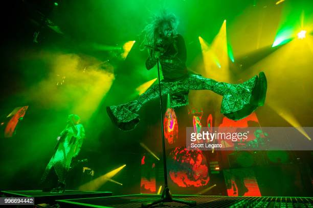 John 5 and Rob Zombie performs during the Twins Of Evil The Second Coming Tour Opener at DTE Energy Music Theater on July 11 2018 in Clarkston...