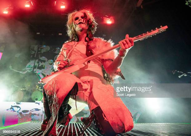John 5 of Rob Zombie performs during the Twins Of Evil The Second Coming Tour Opener at DTE Energy Music Theater on July 11 2018 in Clarkston Michigan