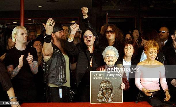 John 5, Zakk Wylde, Ozzy Osbourne, Delores Rhoads, Sharon Osbourne and Kathy Dargenzio