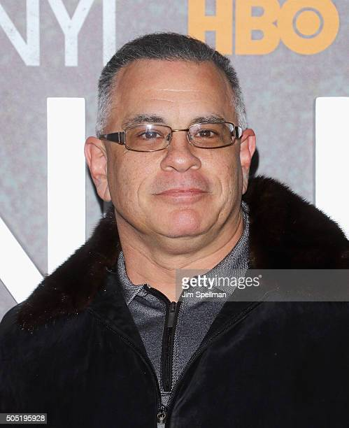 John A Gotti attends the 'Vinyl' New York premiere at Ziegfeld Theatre on January 15 2016 in New York City