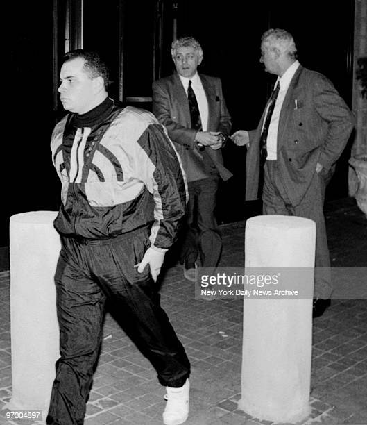 John A Gotti leaves Manhattan Correctional Facility with Peter Gotti and Jack D'Amico after visiting his father John Gotti