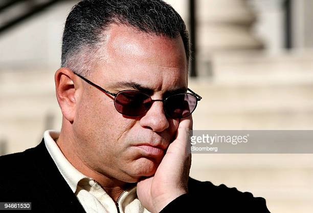 John A Junior Gotti son of the late Gambino family crime boss listens to his attorney address members of the media after a hearing on his tax payment...