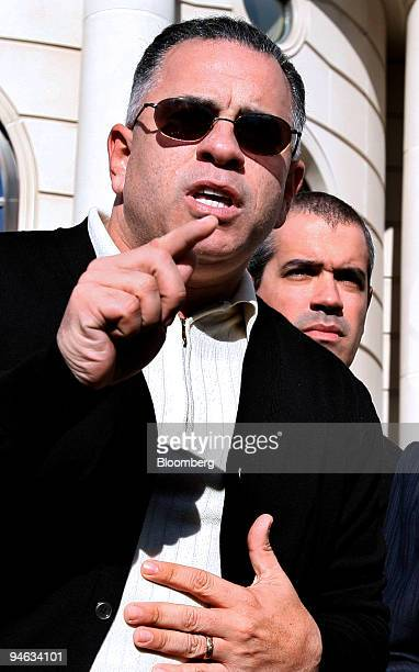 John A Junior Gotti son of the late Gambino family crime boss speaks after a hearing on his tax payment status outside the Federal Court House in...