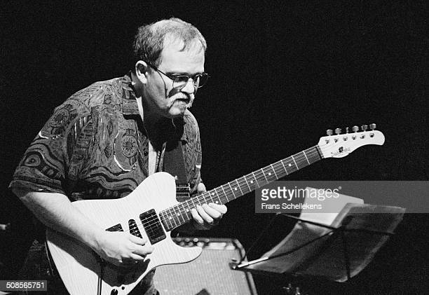 John Abercrombie, guitar performs at the BIM Huis on 10th February 1994 in Amsterdam, Netherlands.