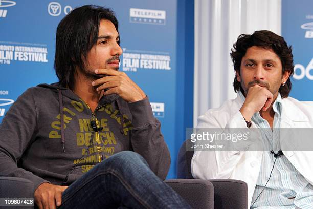 John Abraham and Arshad Warsi during 31st Annual Toronto International Film Festival Kabul Express Press Conference at Sutton Place in Toronoto Canada