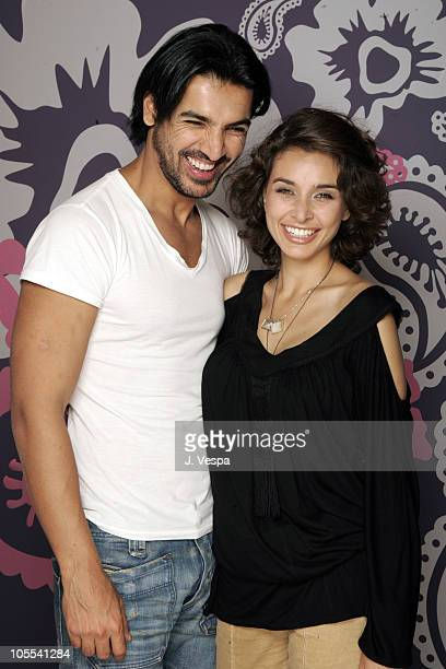 John Abraham and Lisa Ray during 2005 Toronto Film Festival Water Portraits at HP Portrain Studio in Toronto Canada