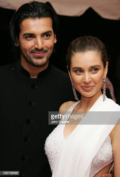 John Abraham and Lisa Ray during 2005 Toronto Film Festival Water Premiere Arrivals at Roy Thompson Hall in Toronto Canada