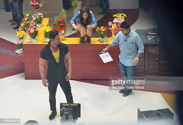 John Abraham and Neha Sharma on location shoot of his upcoming movie Hera Pheri 3 in Mumbai