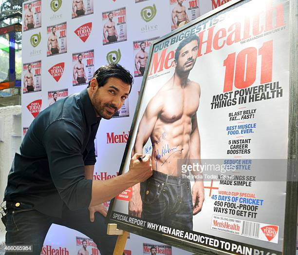 John Abraham at the cover launch of Mens Health magazine featuring him in the latest issue