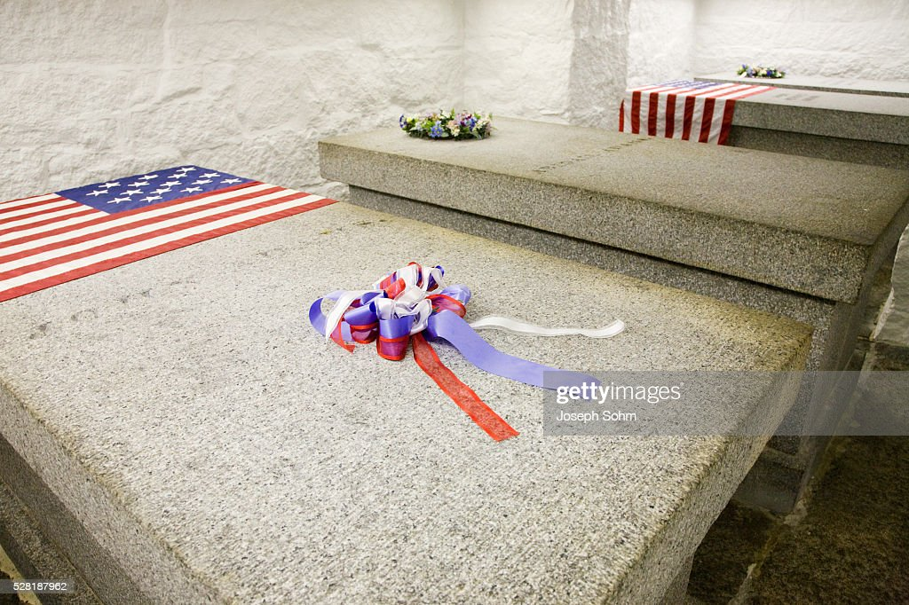 John Adams and John Quincy Adams Burial Tomb : Stock Photo