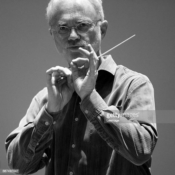 John Adams conducts the London Symphony Orchestra at the Salle Pleyel concert hall in Paris